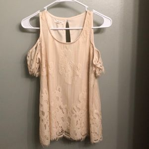 Maurice's laced ivory shirt
